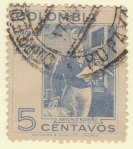Colombia 1947 5c Fine Used A8P55F114