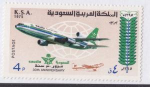 SAUDI ARABIA  1975  SINGLE STAM 4P  SAUDI AIRLINES SC 680  MINT NH