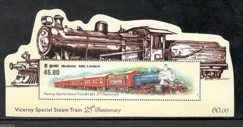 Sri Lanka 2011 Viceroy Special Steam Train Locomotive Odd Shaped M/s MNH # 6184