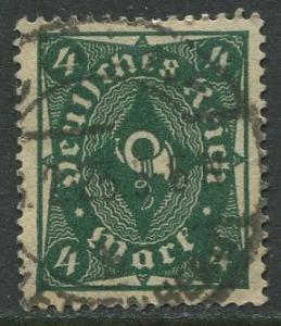 GERMANY. -Scott 187- Definitives -1922- Used - Wmk 126 - Single 4m Stamp