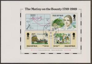 Isle of Man 1989 cancelled mutiny on the bounty sheet