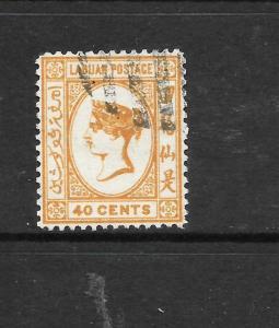 LABUAN  1892-93  40c  QV  FU    SG 47
