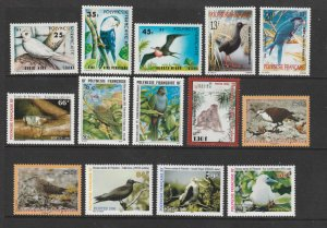 French Polynesia a small lot of moderns MNH all thematic