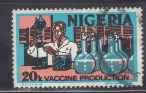 NIGERIA SC #301   20k 1973-74   VACCINE PRODUCTION  SEE SCAN
