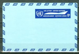 UNITED NATIONS 1968 CONCORDE (13c) AEROGRAM MINT