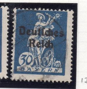Germany 1920 Bayern Early Issue Fine Used 30pf. Optd 250377