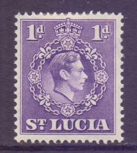 Saint Lucia Scott 111a - SG129, 1938 George VI 1d Perf 14.1/2 x 14 MH*