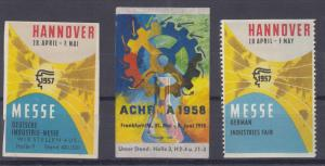 Cinderella Germany 1957/58 Industrial Poster Stamps MLH X8842