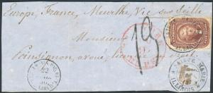 #12 ON FRONT COVER TO FRANCE CV $1,650.00 HV3964
