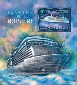CENTRAFRICAINE 2013 SHEET CRUISE SHIPS BOATS
