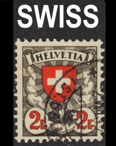 Switzerland Scott 203a grilled gum F to VF used. Key issue.