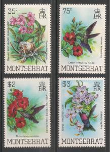 Montserrat #497-500 (A74) VF MNH - 1983 35c to $3 Birds / Flowers