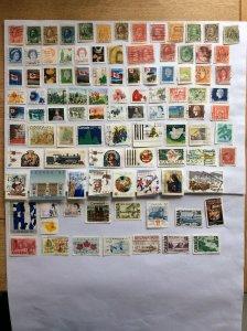 Canada 100 stamps - Lot E