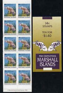 Booklet - Marshall Islands 1988 Fish $1.40 booklet comple...