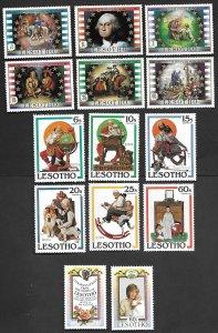 LESOTHO SC # 365-370,344-349,379-380 MNH