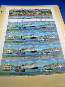 UNITED NATIONS  -  SCOTT # NY709-13, V223-7  - TRANSPORTATION SHEETS  MNH(ss126)