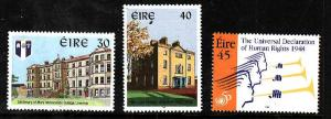 Ireland-Sc#1150-2-unused NH set-Human Rights-Newton School,Mary Immaculate Colle