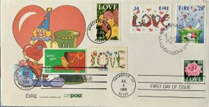 HNLP Hideaki Nakano 2378 Love Rose 2379 Ireland Love Stamps Clown Cover