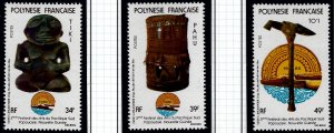 French Polynesia Sc #334-336 MNH VF...Polynesia is Unique!
