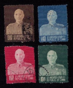 China (ROC) 1953 Chiang Kai-shek Scott #1090,1077,1083-1084 Used