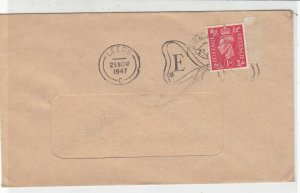 Princess Elizabeth 1947 Wedding Slogan Postmark Stamps Cover Ref 33254
