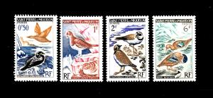 St. Pierre and Miquelon #362-365 MNH CV$8.15 Ducks Ptarmigan Plovers Teal [16...