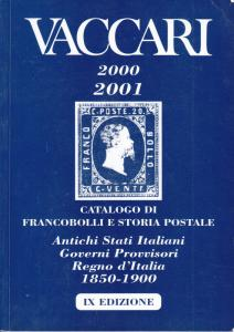 Vaccari 2000/2001 Stamps on Postal History of Early Italy and States, used.