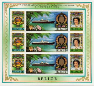 Belize. 1985. 825-27. Ship. MNH.