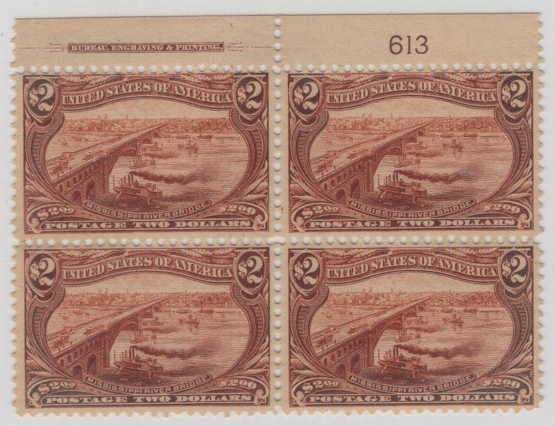 #293 Plate Block, One of Only a Few in Existence SEE DETAILS  (GP2 9/16/19)