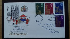 Great Britain 1978 The 25th Anniversary of the Coronation of Elizabeth II FDC