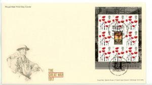 Great Britain 2017 FDC  Great War 1917 Women's Army Auxiliary Corps Miniature...