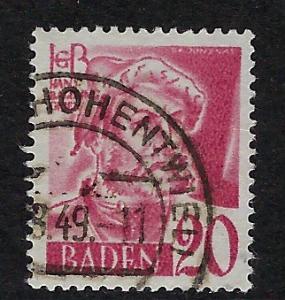Germany - under French occupation Scott # 5N37, used
