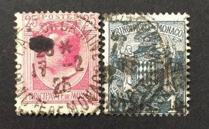 Monaco 1924-33  #60,69, Coat of Arms, Used.