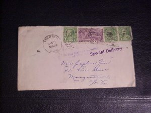 1935 SPECIAL DELIVERY WITH 10 CENT S.D. AND 3 A PAIR AND SINGLE 1 CENT FRANKLINS