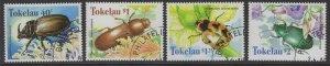 TOKELAU ISLANDS SG278/81 1998 BEETLES FINE USED