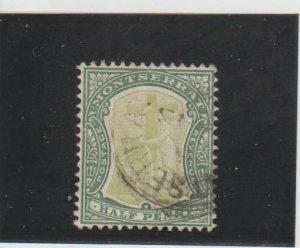 Montserrat  Scott#  12  Used  (1903 Symbol of the Colony)