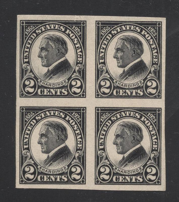 US#611 Black - Block of 4 - O.G. - N.H.