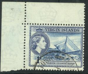 BRITISH VIRGIN ISLANDS 1956 QE2 1c (1962 Shade Var) Pictorial SG No. 150a VFU