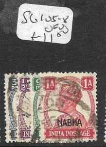 INDIA NABHA (P2309B) KGVI   SG105-8  VFU