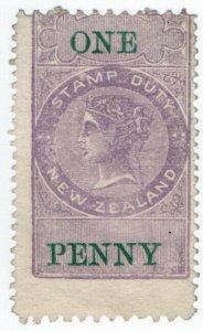 (I.B) New Zealand Revenue : Stamp Duty 1d