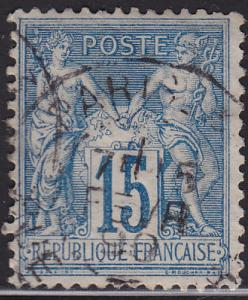 France 92 USED 1878 Peace and Commerce 15c