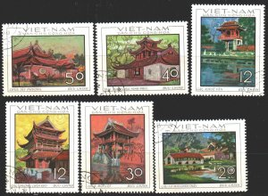 Vietnam. 1968. 550-55. Vietnam architecture. USED.