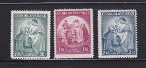Czechoslovakia B144-B146 Set MH Art, Paintings (A)