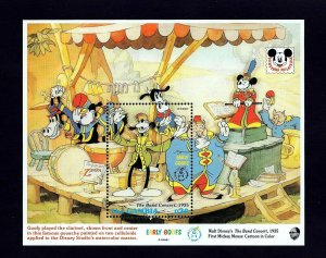 GAMBIA - 1992 - DISNEY - GOOFY - MICKEY - BAND CONCERT - MINT - MNH S/SHEET!