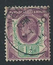 GB Edward VII SG 287 Used  cancel MR 30 11  short perf