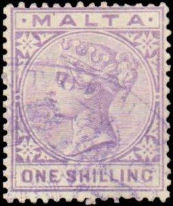 Malta #13, Incomplete Set, High Value, 1885, Used, Thin