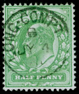 SG218 SPEC M2(2), ½d yellowish green, FINE USED, CDS.
