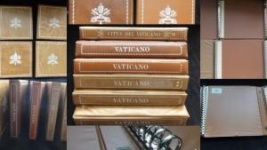 VATICAN Papal Cover Design Twenty Two Ring Binders x 6 (B80)