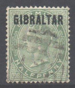 Gibraltar Scott 1 - SG1, 1886 Victoria 1/2d used