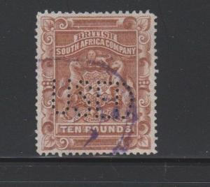Rhodesia Scott # 19 VF Used neat revenue cancel nice color cv $ 75 ! see pic !
